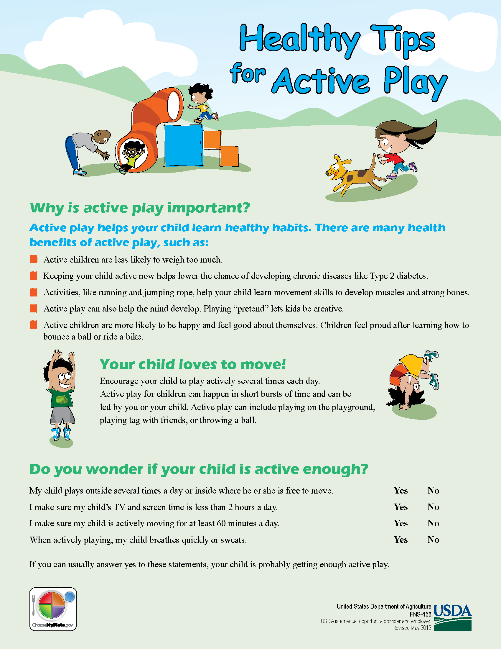 Healthy Tips for Active Play
