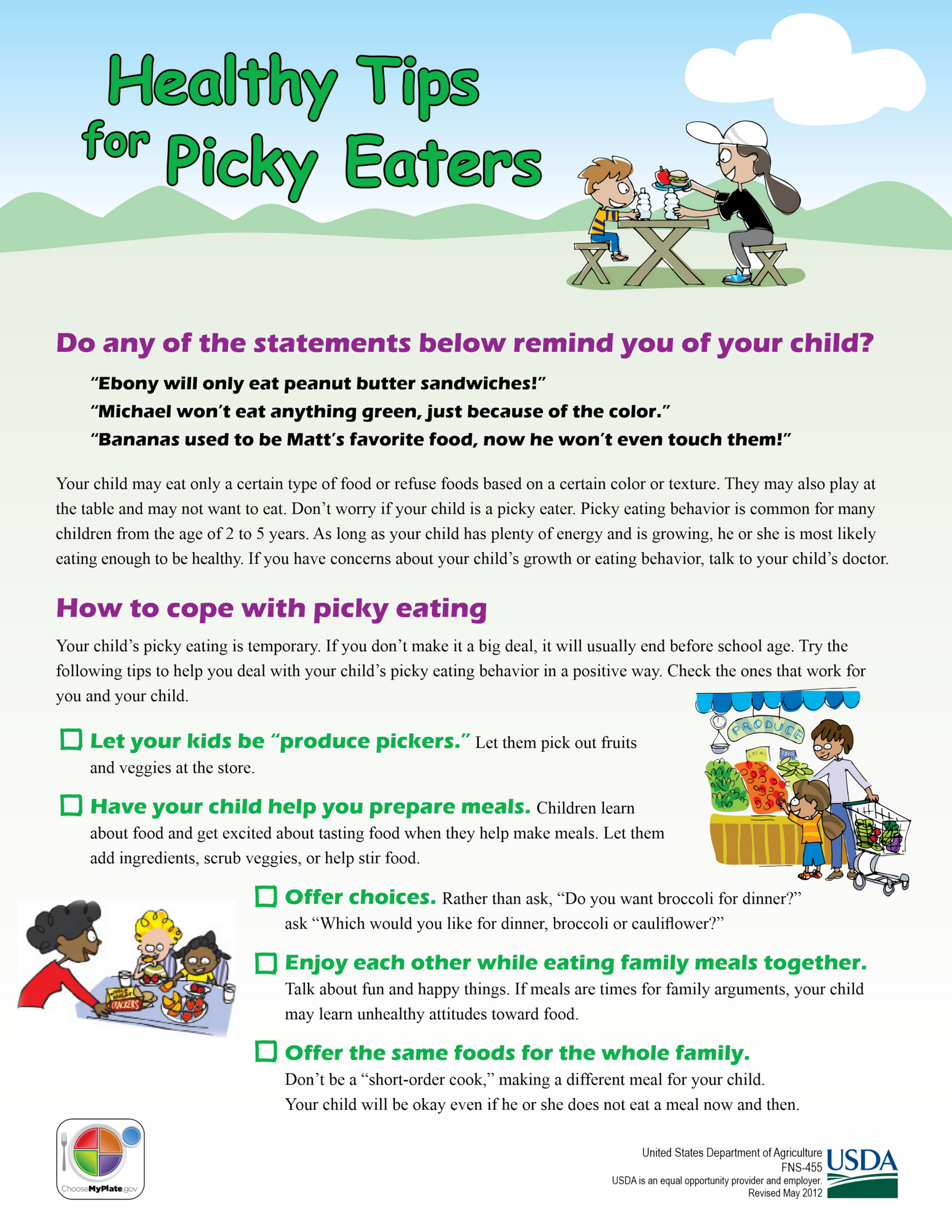 Healthy Tips for Picky Eaters
