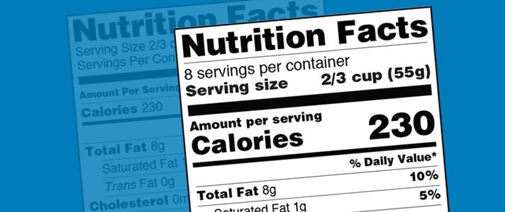 Nutrition Facts Label