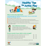 Healthy Tips for Active Play Fact Sheet