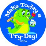 Roll of Stickers - Make Today a Try Day